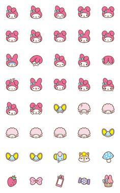 My melody Sanrio Washi emoji planner stickers 40 pcs by JpKrHk on Etsy My Melody Wallpaper, Sanrio Wallpaper, Hello Kitty Wallpaper, Cute Disney Wallpaper, Stickers Kawaii, Emoji Stickers, Cute Stickers, Journal Stickers, Planner Stickers