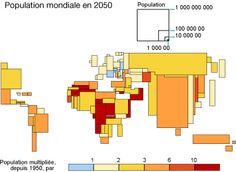 Cette carte montre la diversité grandissante des dynamiques de population entre les régions du monde.