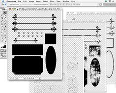Scrap Girls University - Digital Scrapbooking Tutorial - Create Your Own Digital Scrapbook Embellishments with ScrapSimple Embellishment Templates: Le Jardin