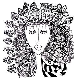 zentangle woman
