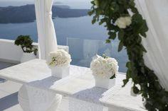 Ceremony table- Santorini wedding