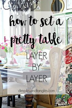 How to set a pretty table  ||  Easter Tablescape  ||  Spring Tablesetting  ||  Dimples and Tangles