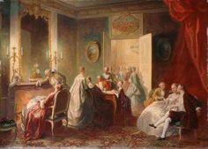 Une après-dîner au XVIIIème siècle - Jean Alexandre Couder