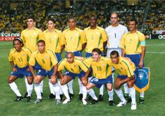 Brazil 2002 World Cup Team Brazil Football Team, Football Icon, National Football Teams, World Football, Brazil Team, World Cup Teams, Fifa World Cup, Football Team Pictures, History Of Soccer