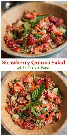 Strawberry Quinoa Salad with Fresh Basil