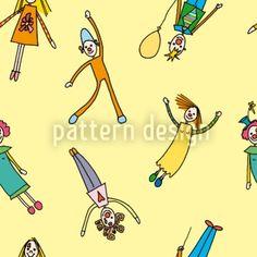 Hochqualitative Vektor-Muster auf patterndesigns.com - Clowns-Design, designed by Christina Wasenegger