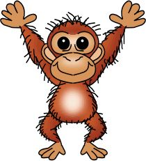 What Can We Do To Help Our Children Succeed? Cartoon Monkey, Monkey Art, Jungle Animals, Cute Animals, Dear Zoo, Stone Painting, Rock Painting, Cute Clipart, Animals Images