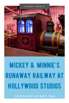 New Ride! Mickey & Minnie's Runaway Railway At Hollywood Studios Disney Parks Blog, Disney World Parks, Disney World Planning, Disney World Rides, Walt Disney World Vacations, Cruise Vacation, Disney Cruise, Disney Play, Disney World Hollywood Studios