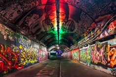 Kids and parenting Kids and parenting. London's famous graffiti tunnel is the star of local regeneration. Graffiti Kunst, Street Graffiti, Wall Street, London Eye, Waterloo Station, Abbey Road, Gcse Art, Design Consultant, Street Artists