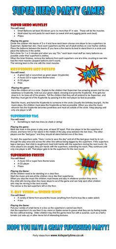 Batman birthday party games for kids fun ideas Superman Party, Superhero Party Games, Kids Party Games, Superhero Kids, Batman Party Favors, Superman Games, Superhero Academy, Superhero Classroom, Classroom Games