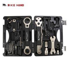 BIKE HAND 18 in 1 Bicycle Repair Tool Kit Box Set Multi MTB Tire Chain Repair Tools Spoke Wrench Kit Hex Screwdriver Bike Tools #Affiliate #bicyclerepairkit