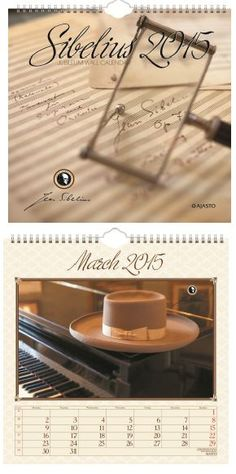 """The Jubileum wall calendar 2015 is Jean Sibelius™ -product with many words and thoughts of Sibelius. For example the November: """"God opens His door for a moment and His orchestra plays the Fifth Synphony. Orchestra, Plays, November, Calendar, In This Moment, Thoughts, Words, Wall, Games"""