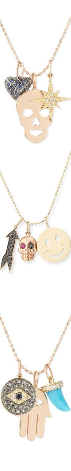 Sydney Evan Trio Charm Necklaces Skull Jewelry, Jewelry Box, Jewelry Accessories, Fashion Accessories, Charm Necklaces, Sydney Evan, Skulls, Arrow Necklace, Charmed