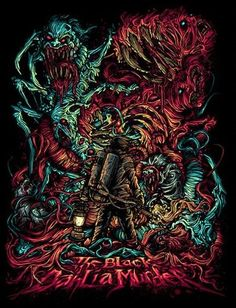 The Black Dahlia Murder ~ Dan Mumford. A tribute to the THING one of my favorite movies & bands converged Fucking Amazing. Dan Mumford, The Black Dahlia Murder, Heavy Metal Art, Rock Poster, Band Wallpapers, Metal Albums, Metal Artwork, Album Design, Band Posters