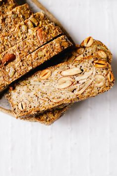 Sprouted Nut and Seed Loaf #vegan #sprouted #bread #healthy #glutenfree | Brewing Happiness