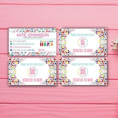 Dot Dot Smile Scratch to win, Dot Dot Smile Scratch off card, DDS Loyalty card, Custom Personal card, Printable file