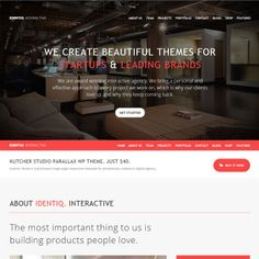 Identiq Responsive One Page Retina WordPress Theme | WordPress Theme Download