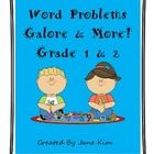 Word Problems Galore & More—Grades 1 & 2 includes more than 100 addition and subtraction word problems for your children to solve.