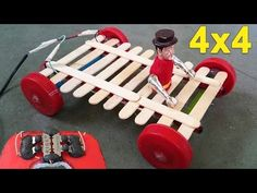 How to Make a Remote Control Car -- Homemade Remote - Easy Way Robots For Kids, Math For Kids, Diy For Kids, Crafts For Kids, Physics Projects, Stem Projects, Projects For Kids, Cultura Maker, Rubber Band Car