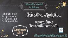 Silhouette Studio - italiano - 18.3) la finestra Modifica: separa linee ...