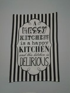 Mr Price Home kitchen tea towel which I converted into artwork for my kitchen. Still need to mount it