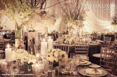 WedLuxe: spectacular all-white, winter #wedding in whistler planned by CountDown Events