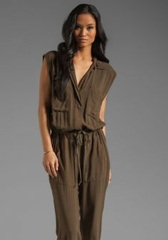 Love this: Challis Jumpsuit in Olive @Lyst