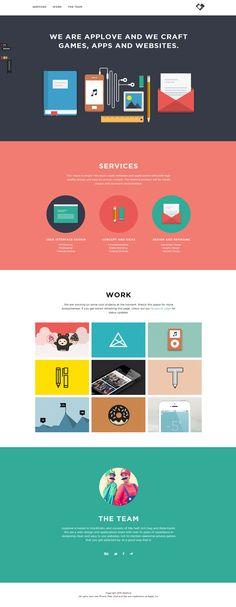 Applove - Games / Entertainment, Mobile / APPS, Web / Interactive - Flat UI Design Trends