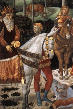 "Benozzo Gozzoli, in the ""Cappella dei Magi"" https://www.artexperiencenyc.com/social_login/?utm_source=pinterest_medium=pins_content=pinterest_pins_campaign=pinterest_initial"