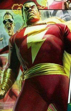 Captain Marvel/Shazam by Alex Ross Arte Dc Comics, Dc Comics Superheroes, Marvel Comics, Original Captain Marvel, Captain Marvel Shazam, Superhero Characters, Dc Characters, Mary Marvel, Gi Joe