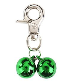 EXPAWLORER 2 Sets Bell Training Charm Pendants Jewelry for Pet Dog Cat Necklace Collar Green ** Check out the image by visiting the link.