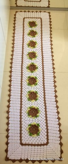 Crochet And Knitting Crochet Dollies, Crochet Decoration, Crochet World, Crochet Tablecloth, Soft Furnishings, Doilies, Table Runners, Crochet Projects, Free Pattern