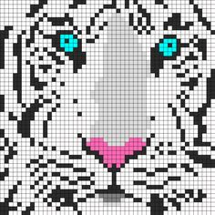 White Tiger perler bead pattern by Melissa Pious