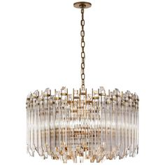 Visual Comfort SK 5421HAB-CA Suzanne Kasler Modern Adele Large Wide Drum Chandelier in Hand-Rubbed Antique Brass with Clear Acrylic Chandeliers, Chandelier Ceiling Lights, Drum Pendant, Chandelier Shades, Chandelier Lighting, Luxury Chandelier, Entryway Chandelier, Contemporary Chandelier, Ceiling Lamp