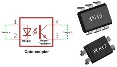 What is Optocoupler: Its Types and Various Application in DC/AC Circuits Hobby Electronics, Electronics Basics, Electronics Components, Electronics Projects, Electronics Storage, Electronic Circuit Design, Electronic Parts, Electronic Engineering, Sony Led Tv