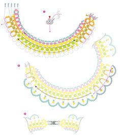 gentle elegant collar of beads and pearl beads, diagram, description,  - 2. Use Pearl Beads 3,4,5,6,8 mm.