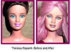 barbie repaint before and after - Google Search