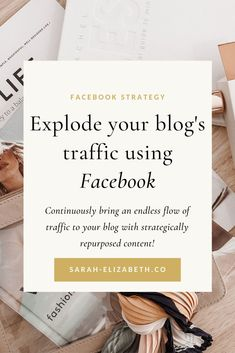 Save boat loads of time with social media content creation when you implement these ways to repurpose content. In this post you'll learn how to repurpose blog content to create Facebook content your audience will love and increase your Facebook engagement as a result. No more Facebook content ideas frenzy. Utilize your amazing blog posts with these content creation tips to make your Facebook marketing posts easy and effective. Read it now! | Sarah Elizabeth Facebook Strategist Facebook Content, Best Facebook, How To Use Facebook, Social Media Content, Business Pages, Small Business Marketing, Facebook Marketing Strategy, Social Media Marketing, Using Facebook For Business