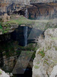 شلال بالوع بلعة، تنورين   Baatara gorge waterfall in Tannourine http://fb.com/WeAreLebanon