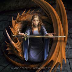 The Truth by Anne Stokes. Image from Anne Stokes. Gothic Fantasy Art, Fantasy Love, Fantasy Art Women, Gothic Fairy, Beautiful Fantasy Art, Fantasy Romance, Fantasy Dragon, Fantasy Artwork, Mystic Dragon