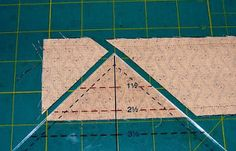 Quilting adventures: Mass Production Half Square Triangles..... a tutorial....! I've been using Thangles, but this tube method looks like it might be a lot easier--will need to get one of these rulers.