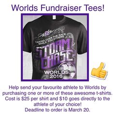 Order your tees today! #worlds2016 by perfectstormathletics