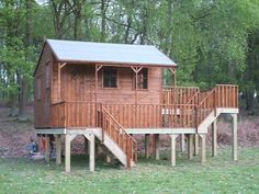 Childrens Playhouse On A Raised Decking Area Project code:… | Flickr