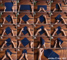 Receber em casa - Como dobrar guardanapos? - Revista Westwing