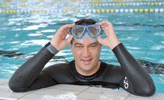 Der bayrische Finanzminister Markus Söder ist ein Langstreckenschwimmer. Foto: privat.