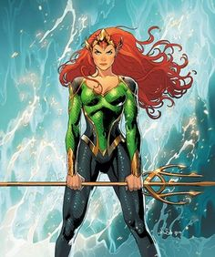 DC Comics is swimming in good news this week! Mera: Queen of Atlantis, will be the star of her own eponymous mini-series for DC Comics in February, her Marvel Dc Comics, Mera Dc Comics, Heros Comics, Dc Comics Characters, Dc Comics Art, Dc Heroes, Female Characters, Dc Comics Girls, Marvel Avengers