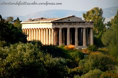 Temple of Haphaestus - the only ruin with a roof in Athens, Greece