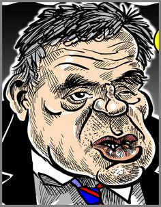 Caricature of Gordon Brown @SarahBrownUK for #TwitterCelebCarix