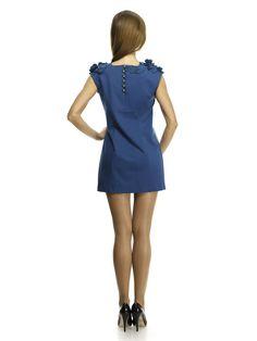 Платье синее со стилизованными цветами - Rica Mare - LeBoutique - Коллекция брендовых вещей от Rica Mare (1200×1600)