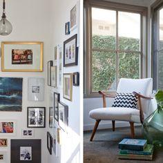 Gallery wall.  Interiors + Exteriors - Bethany Nauert.  Styled by Emily Henderson.